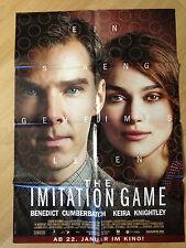 Filmposter * Kinoplakat * A1 * The Imitation Game * 2015 * Cumberbatch+Knightley