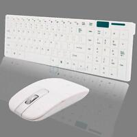 New JITE 2.4GHz Wireless Optical Keyboard Mouse Set Combo for Desktops PC White