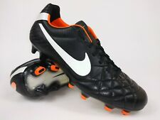 Nike Mens Rare Tiempo Legend IV FG 454316 018 Black Orange Soccer Cleats Size 8