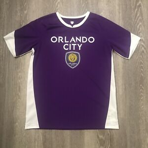 Orlando City SC MLS Boys Kids Soccer Jersey Size XL 18/20 Purple