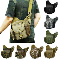 Men Tactical Military Messenger Shoulder Bag Messenger Chest Saddle Bag Outdoor