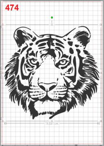 Detailed Tiger Face Stencil MYLAR A4 sheet strong reusable wall art craft deco