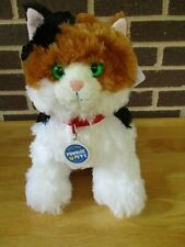 "New Build a Bear Promise Pet Calico Cat 12""+ 6"" Tail Plush Stuffed  Meow Sounds"