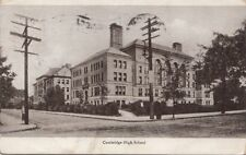 Postcard Cambridge High School Boston MA