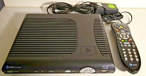 AT&T U-Verse Cisco ISB7005 TV Cable Box Receiver w/ REMOTE & POWER CORD