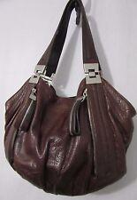 B. MARKOWSKY CROCO East West Leather Shoulder/Satchel Handbag Brown Size Medium