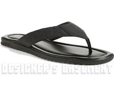GUCCI mens 7G black GUCCISSIMA Leather BEACH flip-flops Thong sandals NIB Authen