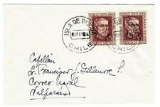 Chile Sc#299(pair)-EASTER ISLAND-ISLA DE PASCUA 6/FEB/66-SCARCE