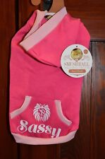 Smushball Pet Cat Dog Pink Hoodie Clothes Winter Apparel Sassy Size Small S NEW