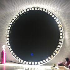 LED Illuminated Bathroom Mirror  IP44 Sensor Button Dressing Different colour
