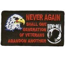 Never Abandon Patch Veteran Vet POW Military Biker MC Club Vest Patch PAT-1288