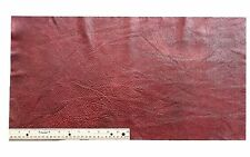 A-1 UPHOLSTERY LEATHER PIECE COWHIDE DARK RED Light Weight 2 Square Feet