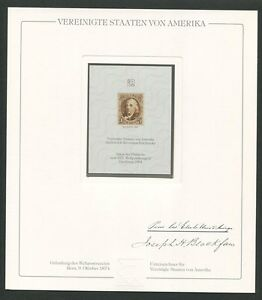 USA No. 1 OFFICIAL REPRINT UPU CONGRESS 1984 MEMBERS ONLY! RARE! z1503