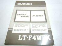 OEM Suzuki ATV King Quad LT-F4WDX Owner's Manual (EN, SW) PN 99011-19B34-011