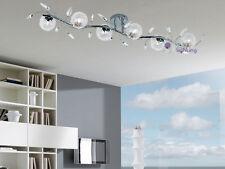 Plafoniera moderna lampadario lampada soffitto design acciaio cromato cristallo