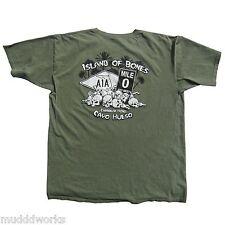XXL or XXXL Caribbean Hobo T-shirt Key West Island of bones Havana color olive