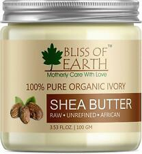 Bliss of Earth 100% Pure Organic Ivory Shea Butter, 100g Free Shipping
