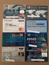 8 Expired Credit Cards For Collectors - MasterCard - VISA Lot (#2)