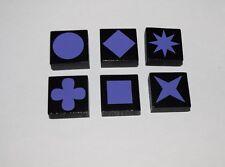 Qwirkle Replacement Parts Game Tiles LOT of 6 - Purple   #QWT02