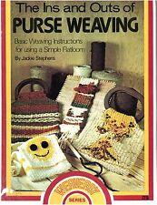 The Ins Outs Purse Weaving Macrame Applique Purses Weaving Pattern Book