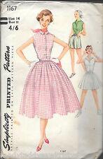 Vintage Simplicity 1167 ladies 14 sewing pattern blouse shorts skirt gorgeous!!