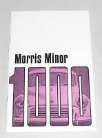 Betriebsanleitung Handbuch / Owner´s Manual Morris Minor 1000, Stand 1970