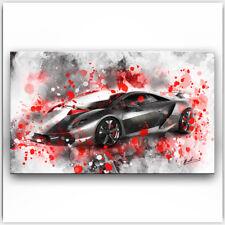 Lamborghini Sportwagen Auto Abstrakt Deko Bild Leinwand Kunst Wandbild XXL 1237A