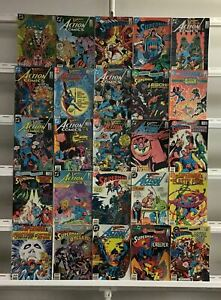 Superman Copper Age Dc 25 Lot Comic Book Comics Set Run Collection Box