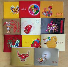 CHINA 2004-1 TO 2015-1  New Year Monkey TO Goat Zodiac Full Booklet set 12PCS