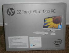 "NEW! HP 22 b013w HD 21.5"" Touch Screen All-in-One Desktop PC Computer White"