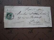 FRANCE - enveloppes 1876 (timbre yvert et tellier n° 64) (Z3) french