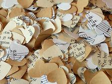 1000 Romantique Papier Cœur kraft livre de musique confettis