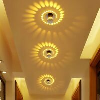 Creative LED Spiral Wall Lamp RGB Ceiling Light Front Balcony lamp Porch light