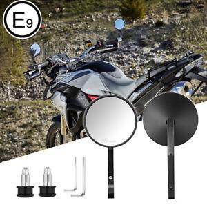 """Rotondo Specchio Moto Retrovisori 7/8"""" Specchietti Omologati E9 Universali"""