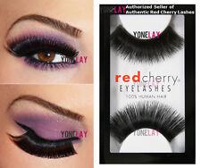 5ab6ab4f51b () Red Cherry #201 False Eyelashes Fake Lashes Black Long Strip 2 Pairs