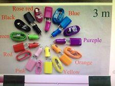 Kit 3 in uno 3 mt di cavo compatibile Iphone 5,5s,6,6Plus scelta colore:LEGGI!!!