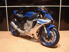 1:12 YAMAHA R1 R1M SUPERBIKE FACTORY BLUE SILVER YRT BSB WSBK TT SUPERB MODEL