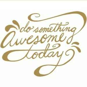 """RoomMates Foil Peel & Stick Wall Decal 6 Gold Decal """"Do Something Awesome"""