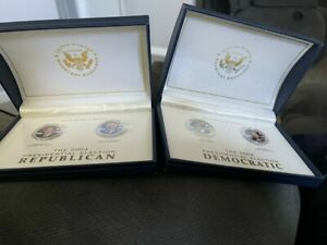 2004 PRESIDENTIAL ELECTION GEORGE BUSH DICK CHENEY KERRY/EDWARDS QUARTER COINS