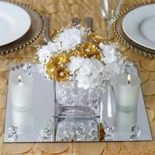 """18 pcs 10"""" Square Mirrors Wedding Reception Centerpieces Wholesale Supplies Sale"""