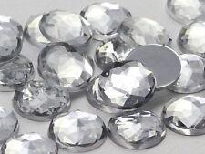 25mm Crystal Clear H102 Flat Back Round Acrylic Gems - 20 Pieces