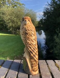 Bespoke Chainsaw Owl / Eagle Carvings In Wood OW1313T313E