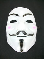 V Mask White for Vendetta Anonymous Guy Fawkes Halloween