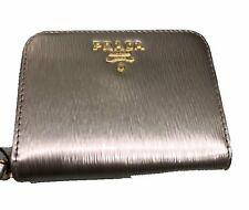 691319892e0fe6 PRADA Portamonete Vitello Move PIRITE Gold Leather Zippered Wallet 1MM268