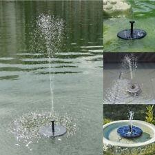Schwimmend Solar Springbrunnen Fontäne Garten Teich Schwimmbad Pumpe SF