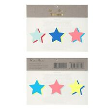 Meri Meri 3d bright coloured star tattoos