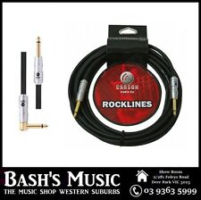Carson Guitar Cable Lead 10FT Heavy Duty Straight to Angle Noiseless