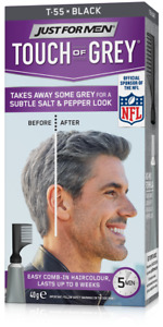 Just For Men T55 Touch Of Grey Hair Color Black Gray 40g Colour Dye Permanent