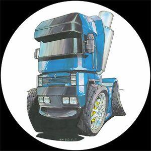 Koolart 4x4 4 x 4 Spare Wheel Graphic Trucks Renault Magnum Sticker 1294 Blue