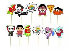 12pcs Cupcake Cake Topper Ryans World Toys Review Birthday Party Decorations.